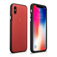 iPhone X/XS Coque arrière ultra mince Crystal Rouge