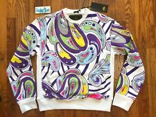 Vintage Stacks & Bundles Paisley Crewneck Sweater Mens Size Small