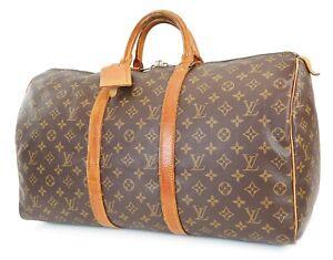 Authentic LOUIS VUITTON Keepall 50 Monogram Canvas Duffel Bag #39575