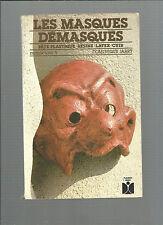 Les masques démasqués pâte plastique résine latex cuir Dominique Jarry REF E26