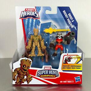 Playskool Marvel Super Hero Adventures POWER UP! GROOT & ROCKET RACCOON 2-Pack