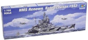 05765 Trumpeter 1/700 Hms Renown Inglese Battle Cruiser 1942 Kit Modello