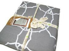 West Elm Organic Cotton Gray Plaster Regal Medallion Full Queen Duvet Cover New