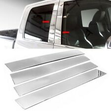 For 09-18 Dodge Ram Crew/Quad Cab Stainless Steel Chrome Pillar Post Trim Covers
