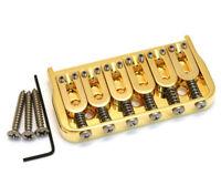 "Hipshot 41065G 6-String Hardtail Fixed Electric Guitar Bridge .175"" - GOLD"