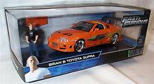 Fast & Furious Brian & Toyota Supra 1-24 Diecast Opening Parts New Jada 30738