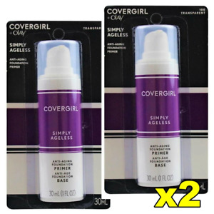 2x CoverGirl Olay Simply Ageless Anti-Aging Foundation Primer - 100 Transparent