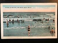 Vintage Postcard>1932>Bathing in the Surf>Sea Island Beach>Georgia