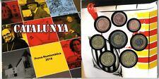 Novedad Cartera Set monedas euro en prueba Cataluña 2018 Catalunya coins trial