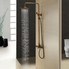 """8"""" Rain Wall Mounted Antique Brass Shower Head Hand Shower Mixer Faucet Taps Set"""