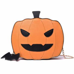 Pumpkin Handbag Halloween Candy Bag Little Devil Shoulder Messenger Bag