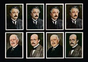 4 1928 Tobacco Cards : Nobel Price ALBERT EINSTEIN 4 WALTER NERNST  MAX PLANCK
