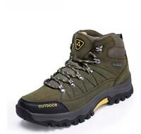 Mens Hiking Shoes Outdoor Sneakers Casual Mountain Climbing High Top Trainers
