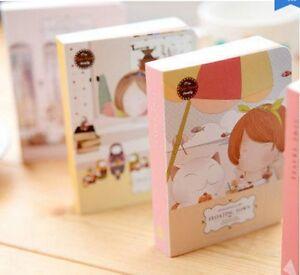 Little Kitten Girl Floating Town color Notebook Journal Kawaii pocket book cute