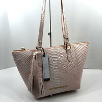 Dooney & Bourke NWT Maxine Caldwell Tote Metal Blush Pink  Embossed Leather $308