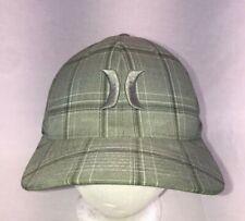 Hurley Hat L-XL Flexfit Grey Plaid Flex Cap