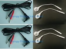 Replacement Electrode Lead Wires LG TEC Elite, Twin Stim -Use Snap or Pin Pads!