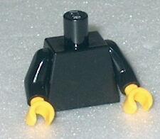 TORSO Lego Plain Black Torso w/yellow hands NEW (Genuine Lego)