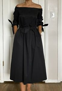 Tibi Midi Black Deess Size 2