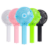 USB Mini Fan Foldable Rechargeable Battery Operated Cooling Handheld Bar Fan