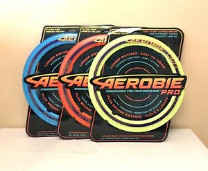 """Aerobie Pro Ring 13"""" Toy Flying Disc Outdoor Aerobie Frisbee Beach Game - 3 Pack"""