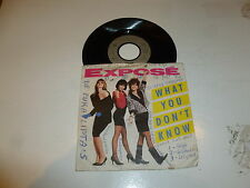"""EXPOSE - What You Don't Know - 1989 Germany 7"""" Juke Box vinyl single"""