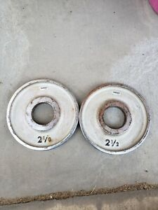 2 1/2 Lb Chrome Ivanko Weight M series olympic plate weights vintage 2.5 2.5lb