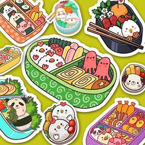 Kawaii Bento Stickers - Cute Food Stickers - Journaling Stickers USA MADE