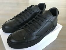 800$ Maison Margiela Black Leather Sneakers size US 12 Made in Italy