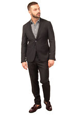 RRP €380 DOMENICO TAGLIENTE Suit Size 50 Grey Single Breasted Notch Lapel Collar