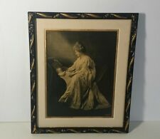 Rare Antique Campbell Art Co.Embossed Relievo - Mother Child - B/W Framed 1907