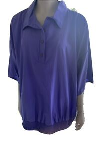 Plus Size Purple Pants Suit Size 24W  Bust 56 NWT 2 Piece  Vintage USA