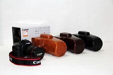 Leather case bag+shoulder strap for for Canon EOS Rebel T8i, T7i, 850D 18-135mm