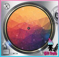 "Geometric Galaxy #9 Turntable Slipmat 12"" LP Record Player, DJ Space Orbit"