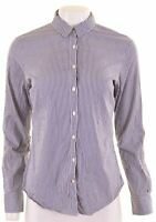 TOMMY HILFIGER Womens Shirt Size 10 Small Blue Check Cotton  DZ25