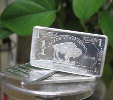 1 oz One Troy Ounce American Buffalo .999 Pure Aluminium Bullion Bar Al Element
