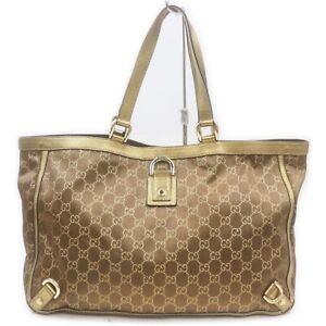 Gucci Tote Bag  Gold Fabric 1216651