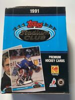 1991-92 NHL Topps Stadium Club Hockey Wax Box | 36 Packs