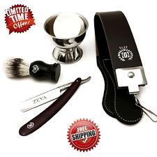 Deluxe 5 Pc Shave Ready Straight Edge Razor Shaving Set Kit For Men in Gift Box