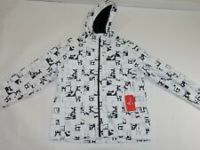 The North Face Men's Millerton Rain Jacket Size XL White Black Hooded Coat