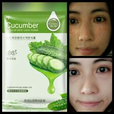Korean Silk Cucumber Face Mask Collegen peeling Anti Ageing Wrinkle Mask
