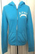 Abercrombie & Fitch donna blu con zip manica lunga Felpa con cappuccio taglia M