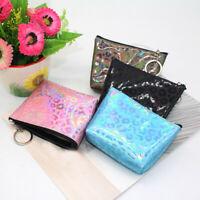 Women Girls Leopard Print Coin Purse Wallet Bag Change Pouch Key Holder Handbag