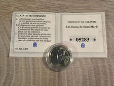 SAINT MARIN 1 Euro 2010 avec Certificat + Capsule