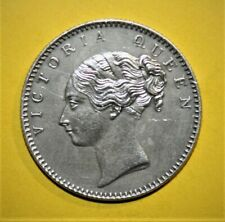 British India 1/2 Rupee 1840(b) Extremely Fine + Silver Coin - Queen Victoria