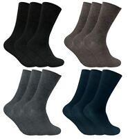 3 Pack Mens Thin Loose Wide Top Non Binding Elastic Warm Thermal Diabetic Socks