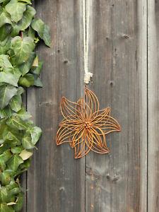 Edelrost Blüte Blume zum Hängen Edelrostblume Metallblume Frühling Deko Rostdeko