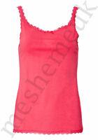 Ladies Pink Camisole Vest with Adjustable Straps Womens Vest Top Size 8-16