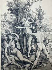 ALBRECHT DURER, Hercules at the Crossroads VINTAGE 1890 QUALITY COPPER ENGRAVING