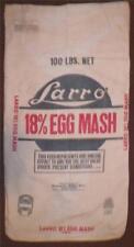 Vintage Feed Sack Bag Larro Egg Mash General Mills Inc AS IS